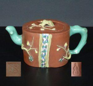19th C. Yixing Teapot – Plum Tree