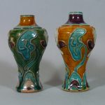 Two 15th C. Ming Sancai Vases – Fahua