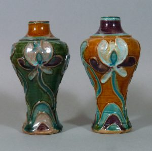 Two 15th C. Ming Sancai Vases – Fahua