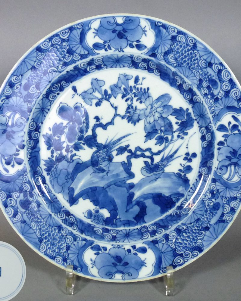 17th C. chinese Kangxi Plate – Birds & Flowers