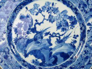 17th C. chinese Kangxi Plate – Birds & Flowers