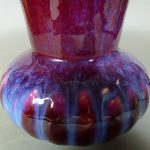 19th C. chinese Flambe Glazed Vase - Pomegranate