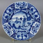 17th C. chinese Kangxi Plate – Boy & Lady