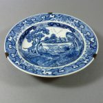 Chinese 18th C. Qianlong Dish – Hunting Dogs