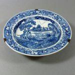 Chinese 18th C. Qianlong Dish – Hunting Dogs