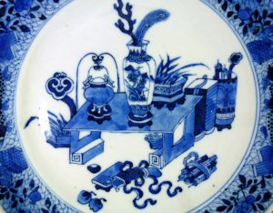 19th C. chinese Plate – Scholar Objects
