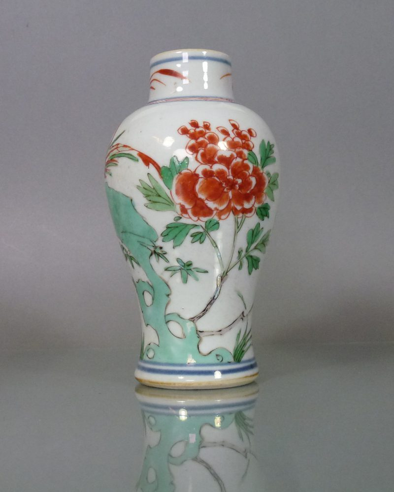 Chinese Kangxi Wucai Vase – Peony & Phoenix