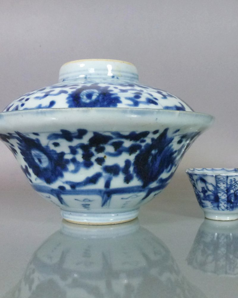 Chinese 18th/19th C. Ogee Bowl & Cover – Chrysanthemum