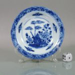 Small Chinese 17th C. Kangxi Dish - Scallop Rim