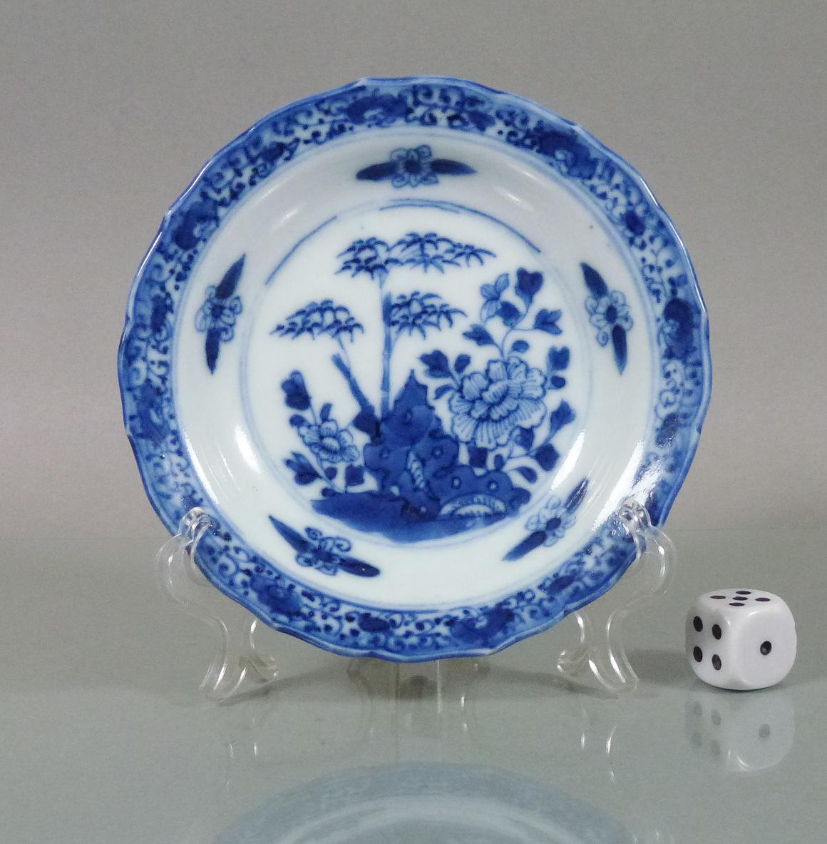 Small Chinese Kangxi Dish - Scallop Rim