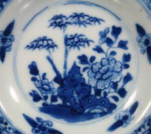 Small Chinese 17th C. Kangxi Dish - Scallop Rim