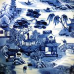 Chinese 18th C. Qianlong Dish – Village