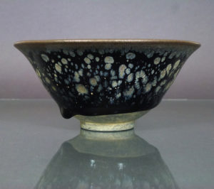 Chinese Jianyao Song Bowl – Metallic-Splashed