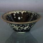 Chinese Jianyao Song Bowl – Metallic-Splashed