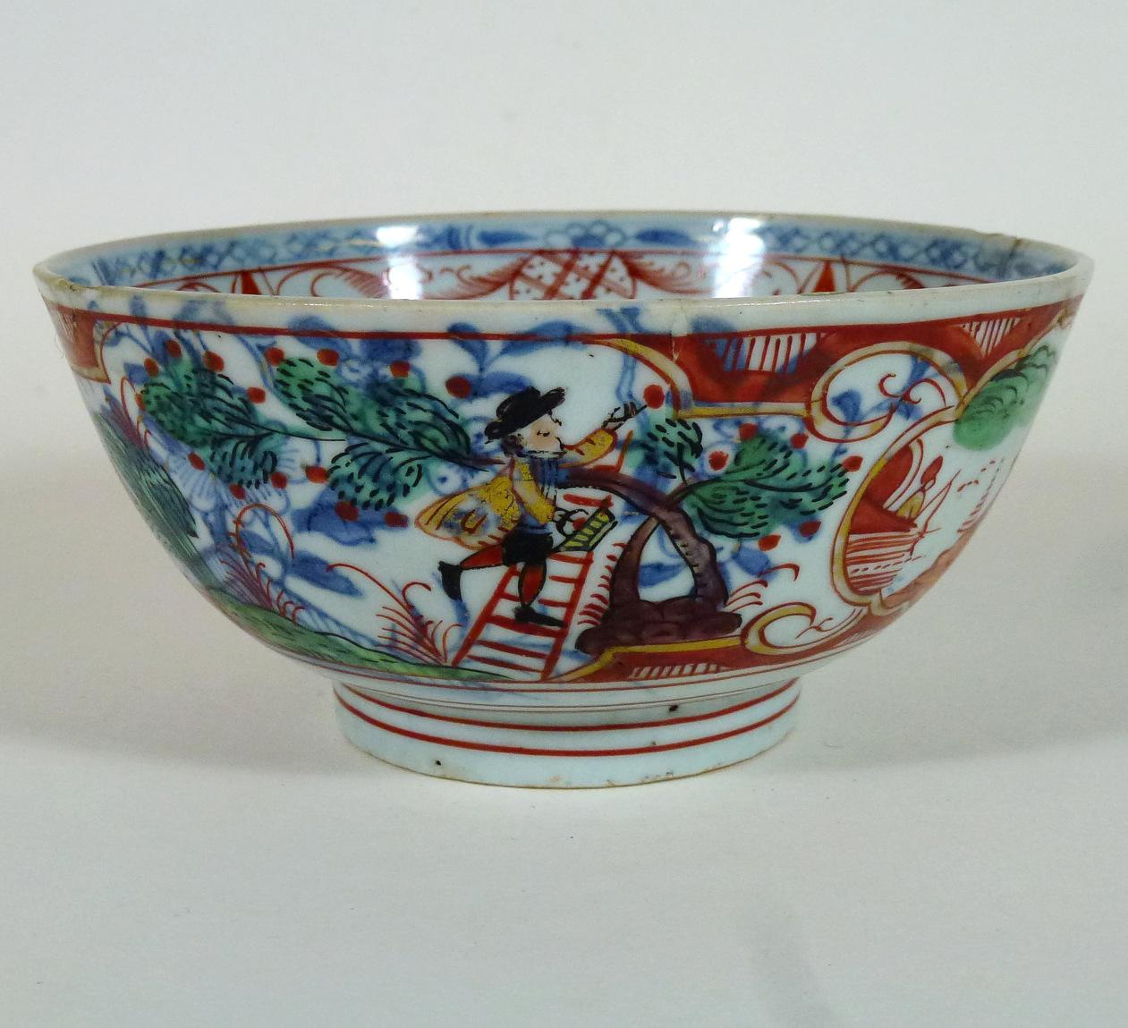 "Chinese 18th C. Bowl ""Amsterdam Bont"" – Cherry Pickers"