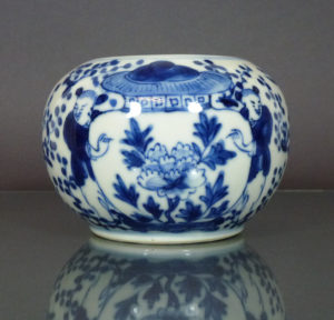 Chinese 19th C. Brush Washer – Boys & Vase