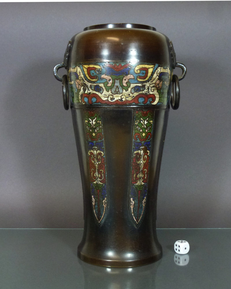 Chinese 19th C. Bronze Vase – Taotie Mask