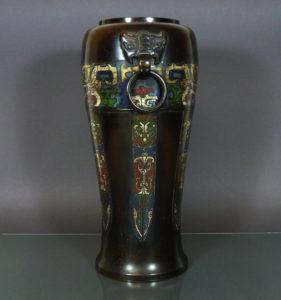 Chinese 19th C. Bronze Vase – Taotie Mask