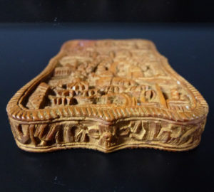 Chinese 19th C. Card Case - Village Scenery
