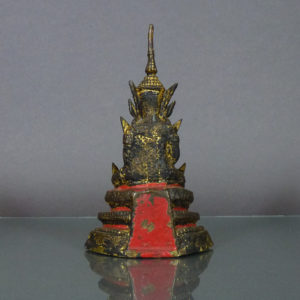 19th C. Thai Rattanakosin Bronze Buddha - Gilded