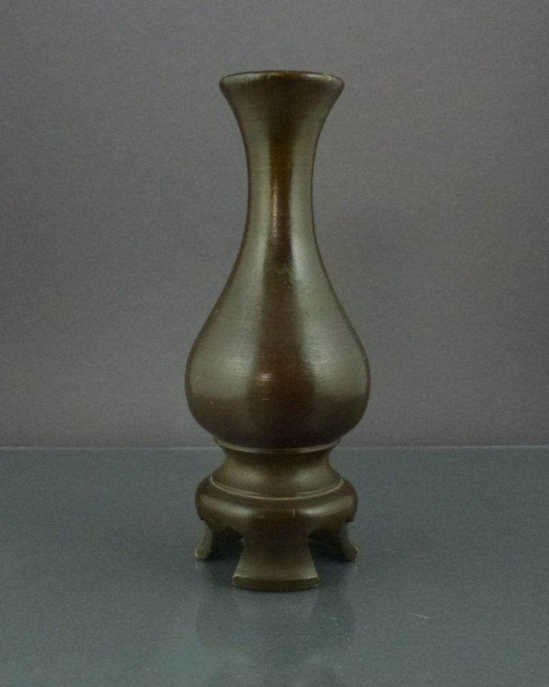 Chinese Ming Dynasty Bronze Vase – Pear-Shaped