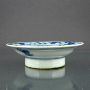 Chinese Pair High Feeted 19th C. Miniature Dishes