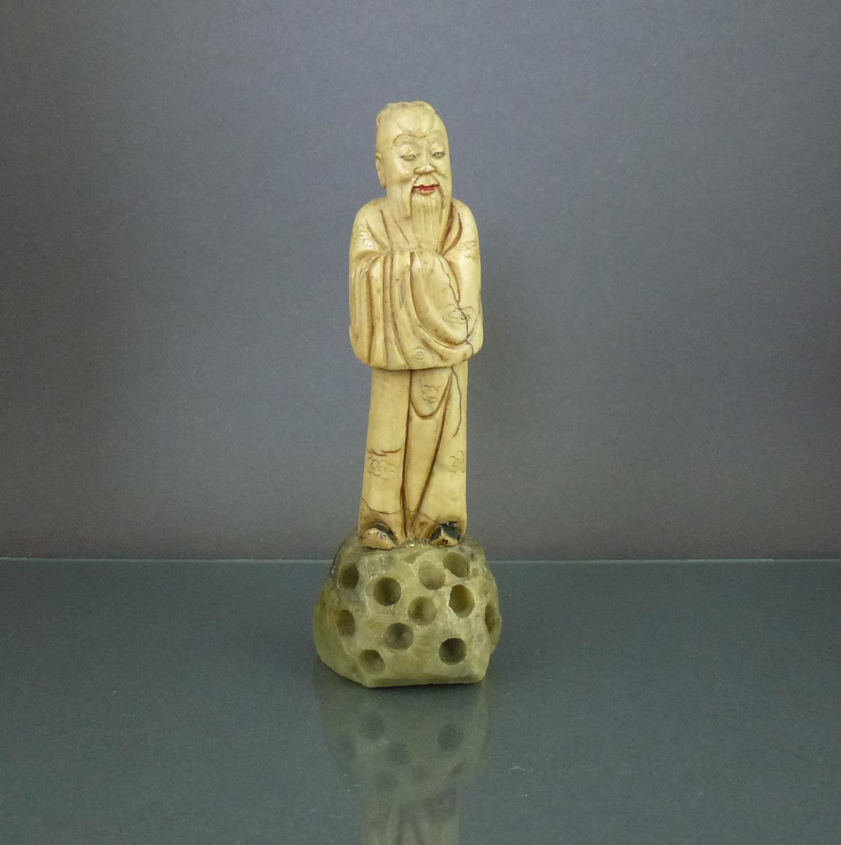 Chinese 19th C. Soapstone Figurine – Shouxing