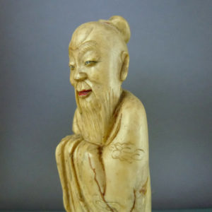 Chinese 19th C. Soapstone Figurine – Shouxing