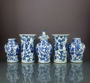 Set 19th C. Chinese Porcelain Vases