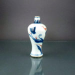 Chinese 17th C Kangxi Miniature Vase – Lotus