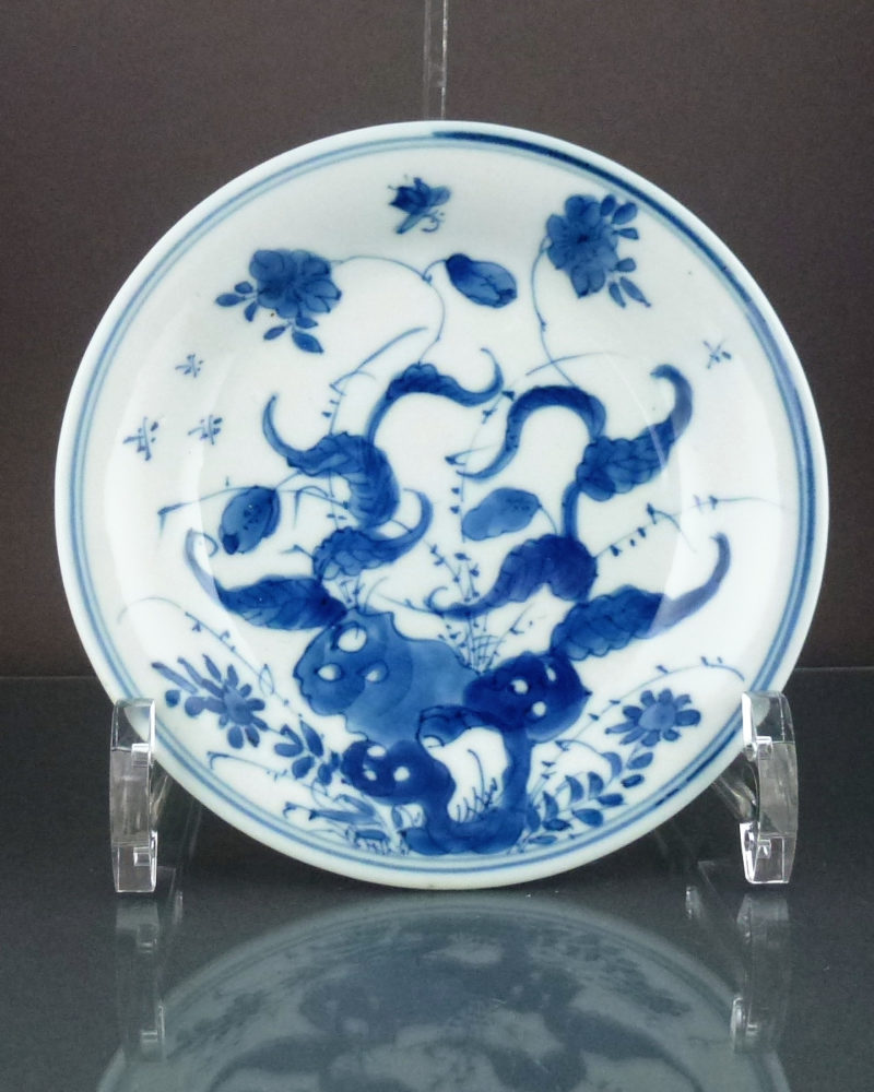 Chinese Kangxi Saucer Dish – Morning Glory