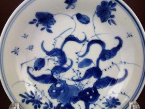 Chinese Kangxi Saucer Dish – Morning Glory