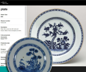 Chinese 18th C. Kangxi Dish - Bird