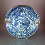 Chinese Wanli Klapmuts Bowl & Silver Handle - Bird