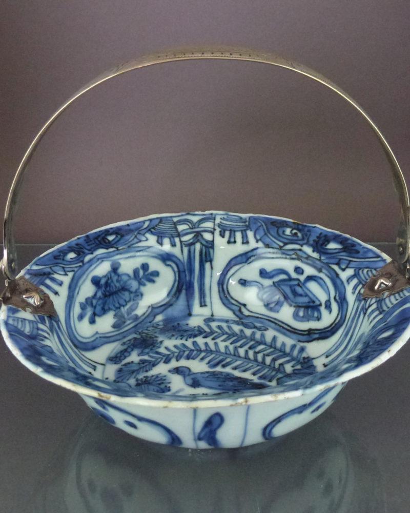 Chinese Wanli Klapmuts Bowl & Silver Handle – Bird