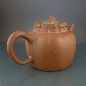 Chinese 18th/19th C. Flower Shape Yixing Teapot – Lion